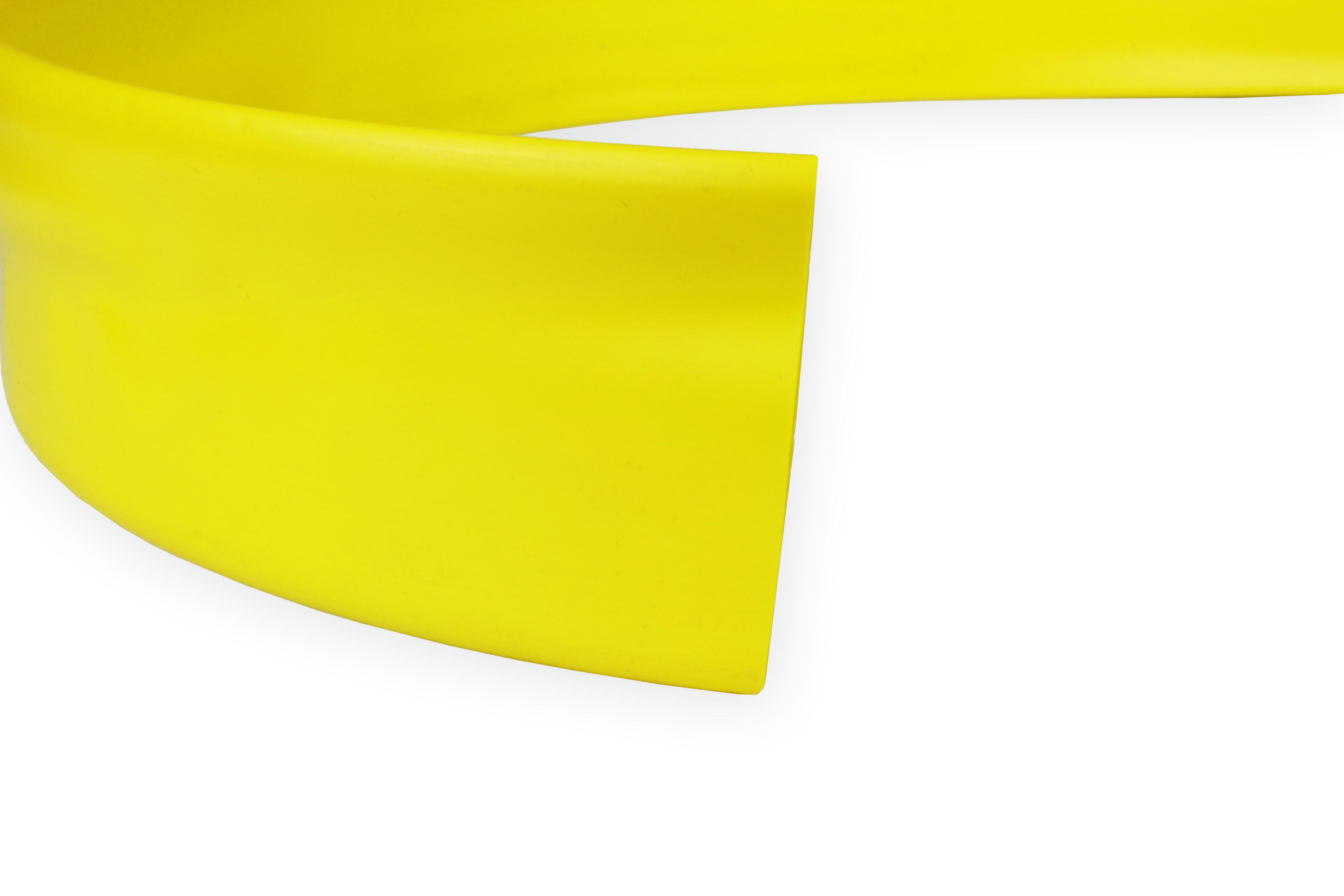 PVC Heat Shrink Tubing HPV Size 76.2mm I.D / 49.0mm I.D Yellow