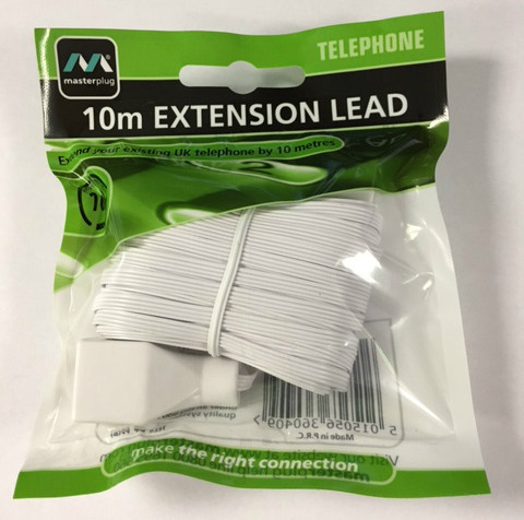 10 Metre High Speed Telephone Extension Lead