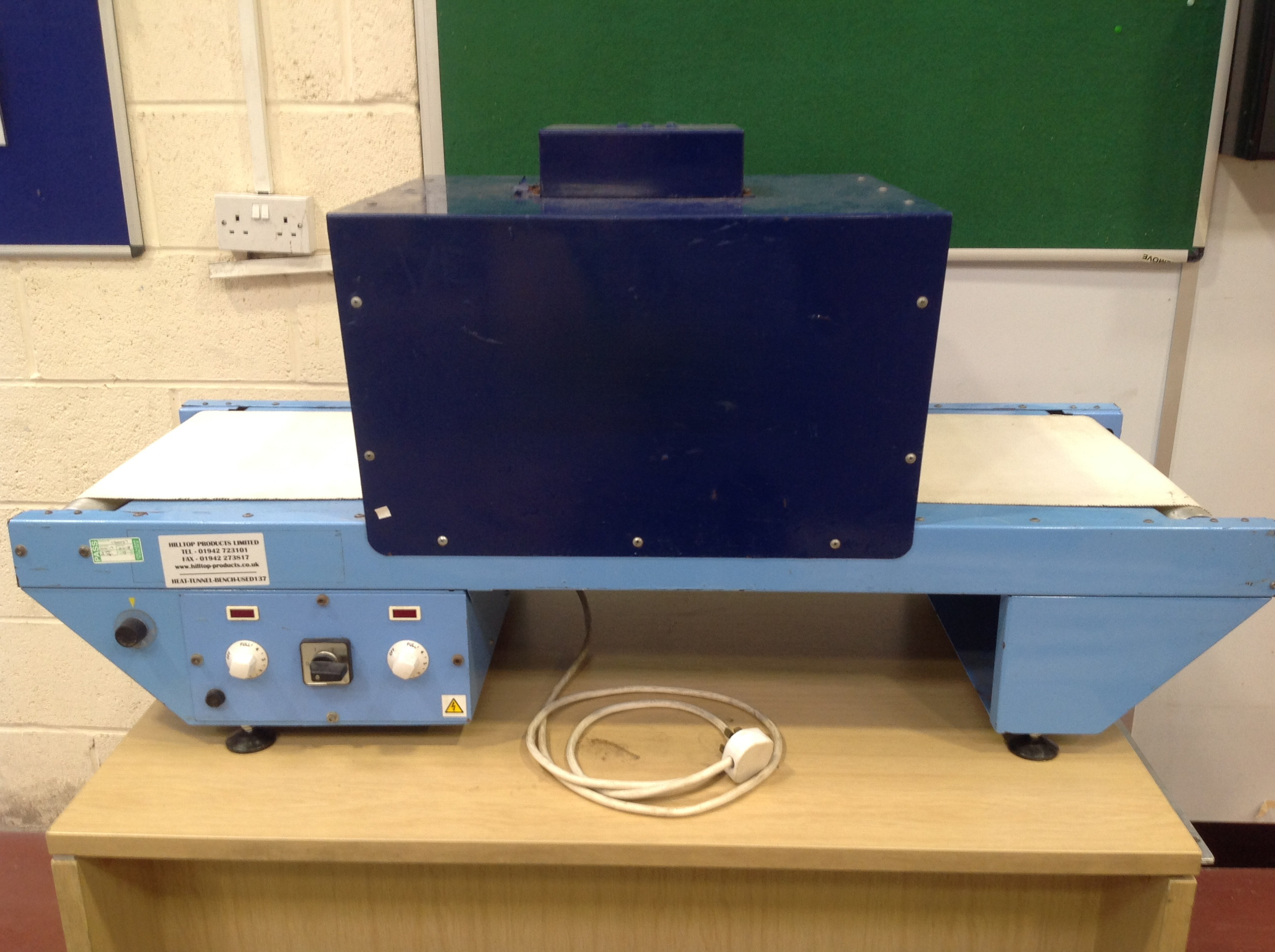 Bench Mounted Heat Tunnel / Shrink Wrapping Machine 550mm (USED137) SOLD