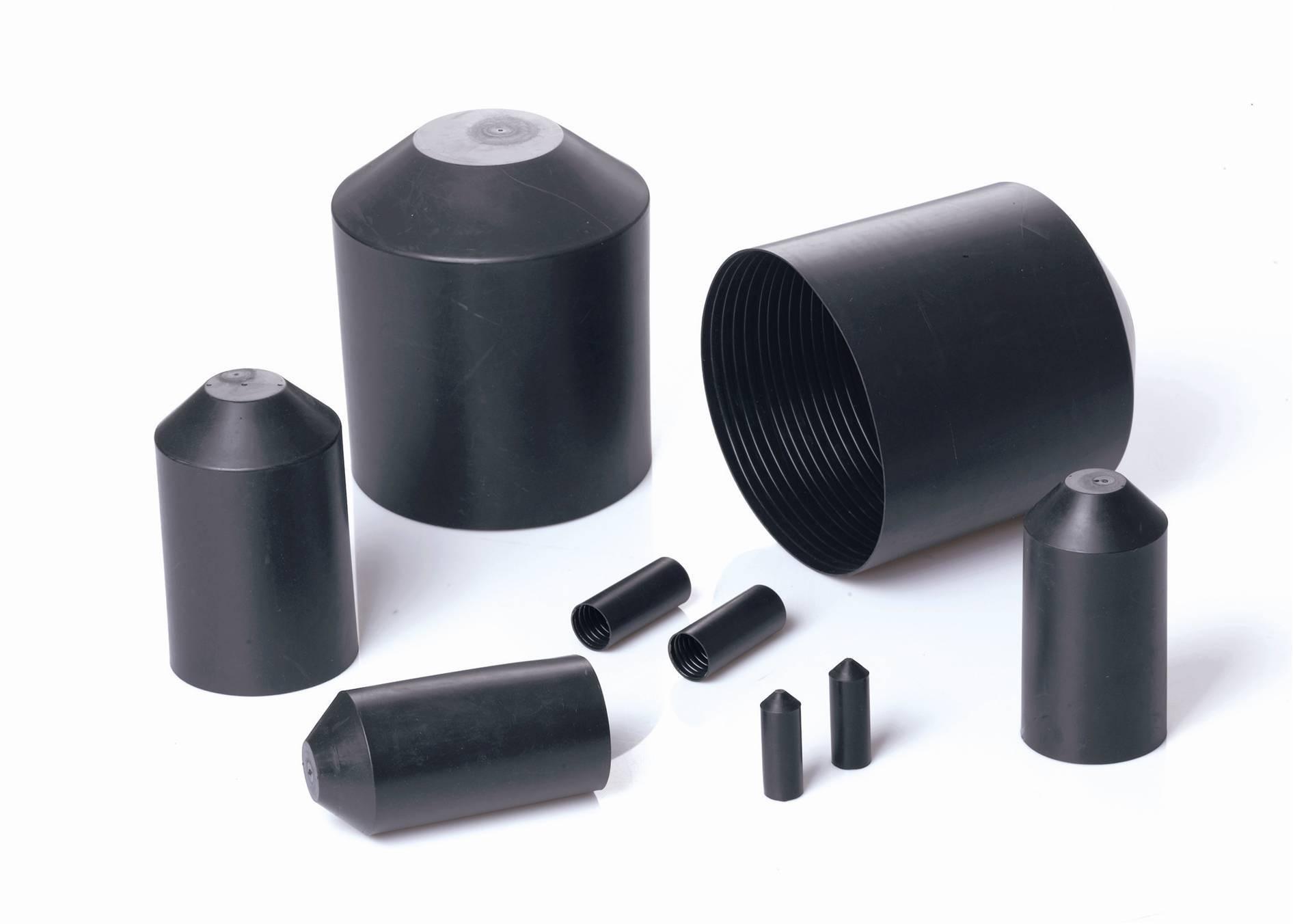Heat Shrink End Cap size 106mm down to 45mm Diameter (55/ADH) Black