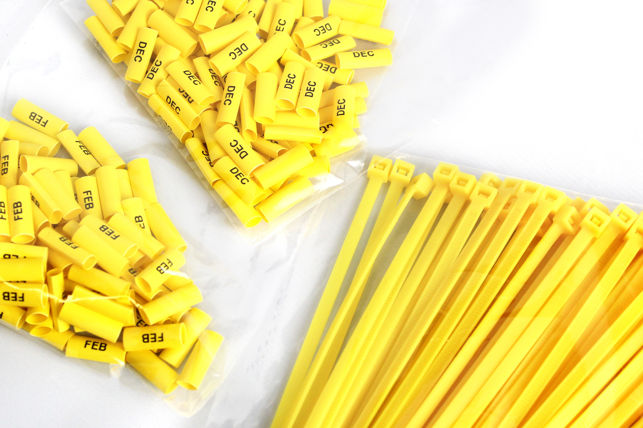 Printed Cable Ties with Months of the Year