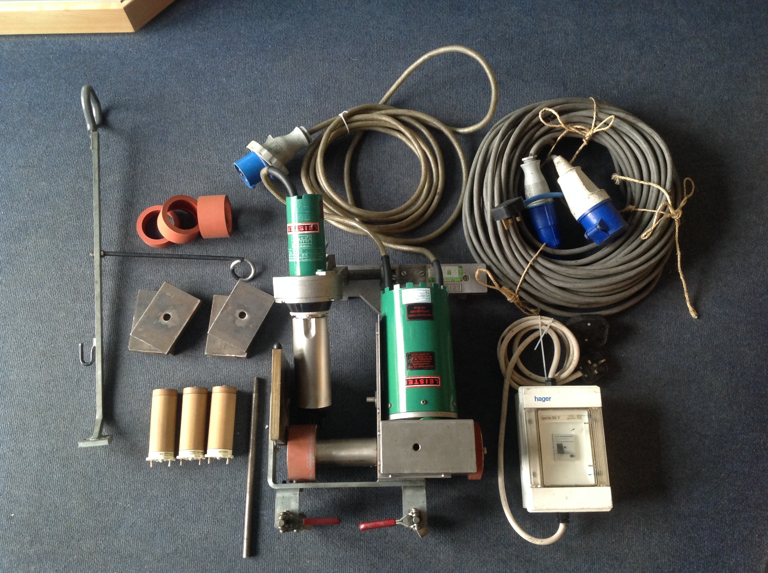 Leister Variant S Overlap Welding Machine KIT 45mm 230V with Lots of Accessories  (USED188) SOLD