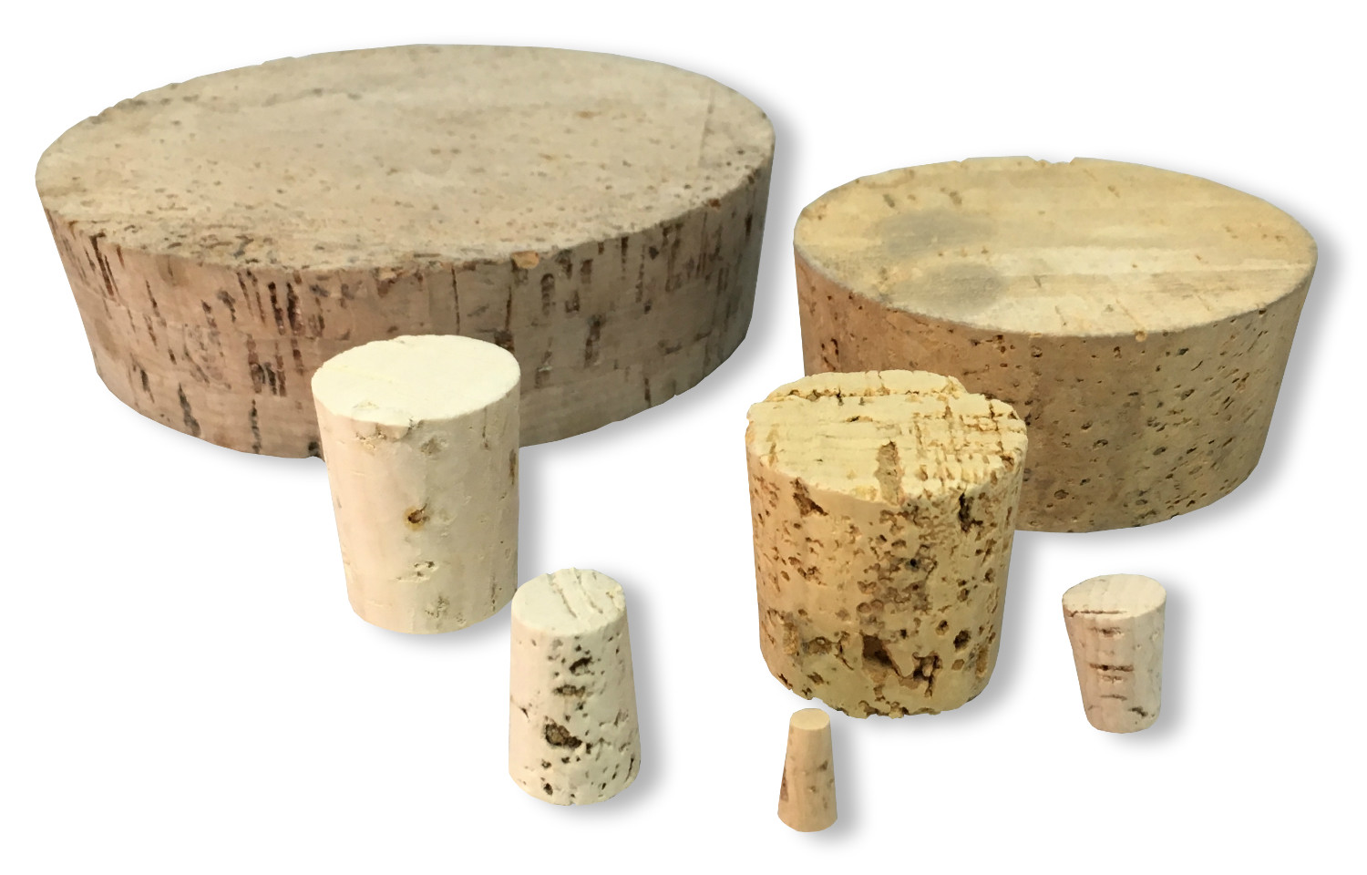 Tapered Cork Stopper Assorted Pack from 9 to 22mm
