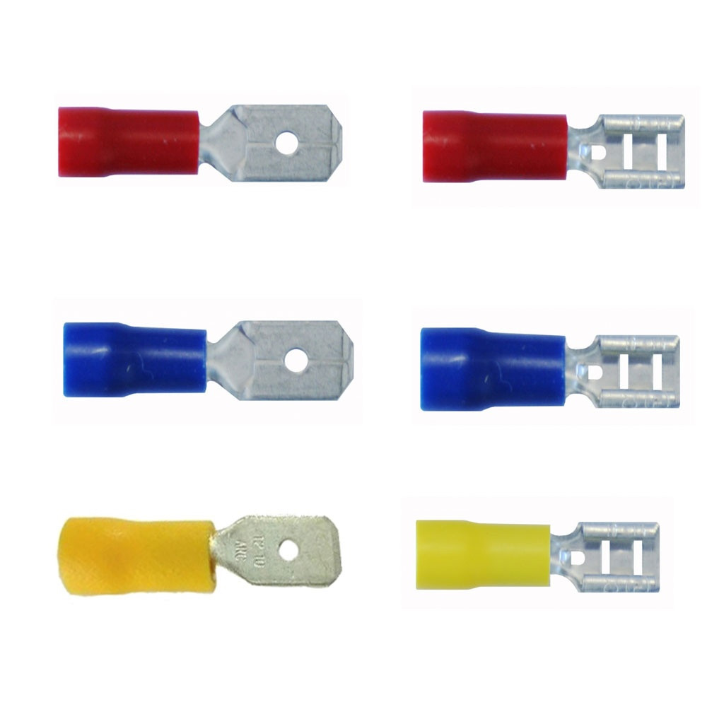 Pre-Insulated Crimp Terminals - Male & female / Push On Tabs