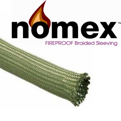 Nomex Nylon Braided Sleeving Green
