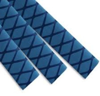 Non-Slip Textured Heat Shrink Tubing size 30mm Blue