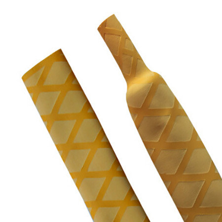 Yellow Non Slip Textured Diamond HeatShrink Tubing