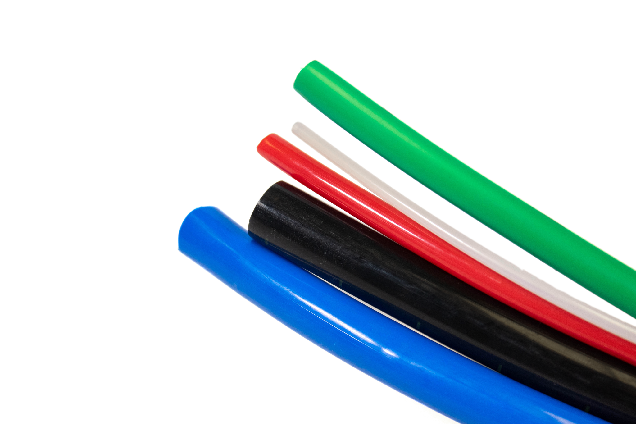 Flexible Nylon Hose Tubing Standard Wall 8.0mm O/D x 5.5mm I/D x 1.25mm Wall Green