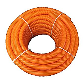 Spool of Orange Conduit