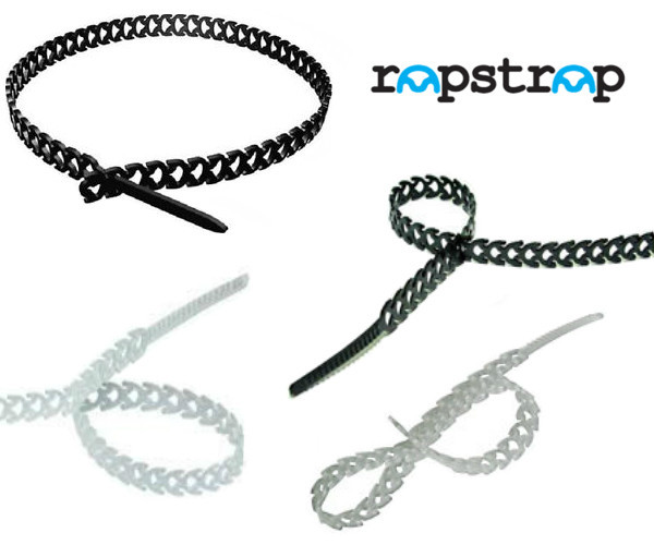 Rapstrap Waste-Saving Releasable Cable Tie - 300mm long x 10mm Wide Black & Natural
