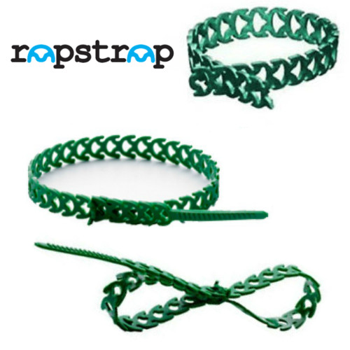 67a828a7138b Rapstrap Waste-Saving Releasable Cable Tie - 300mm long x 10mm Wide Green