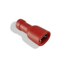 Fully-Insulated Crimp Terminals - Female Tab Red for Male Tab Width 4.8mm / 0.8mm Thick