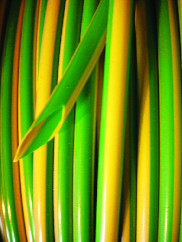 Green/Yellow PVC Earth Sleeving