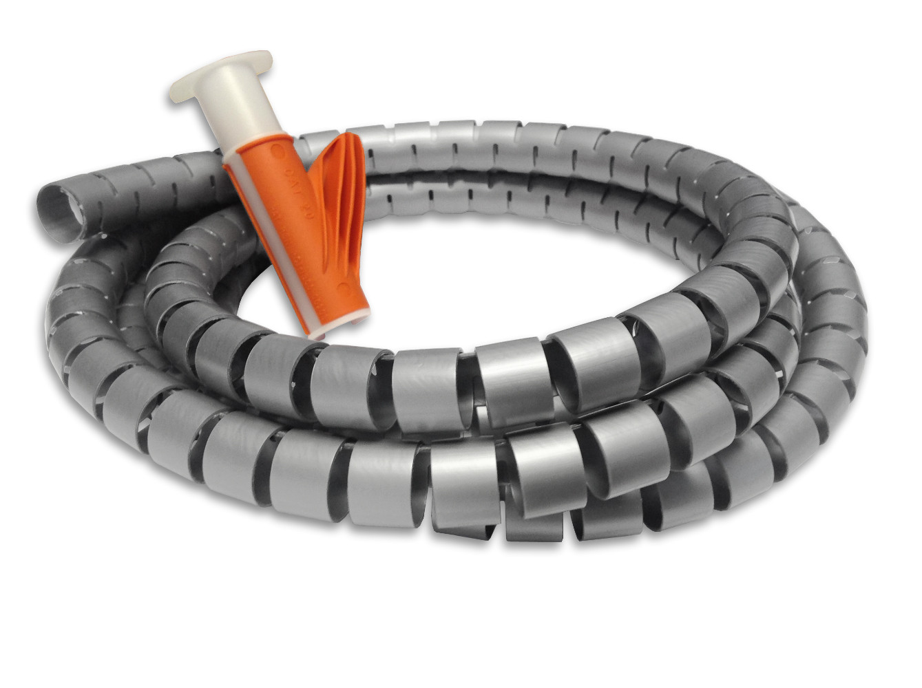 Cable Tidy and Applicator Tool Kit - 20PP - 2.5 mtr Silver/Grey