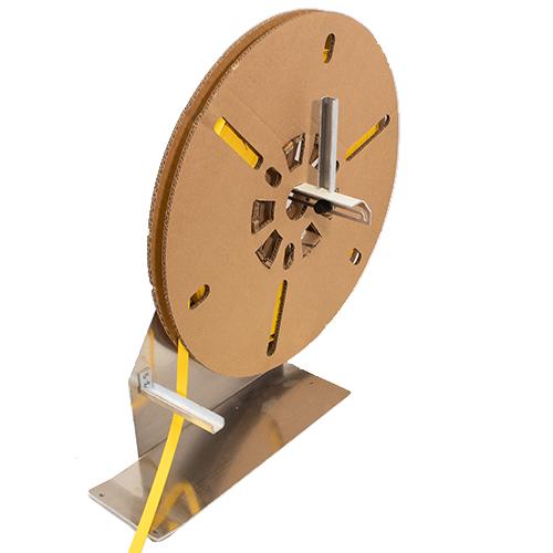 Spool reel holder for heat shrink thermal printing