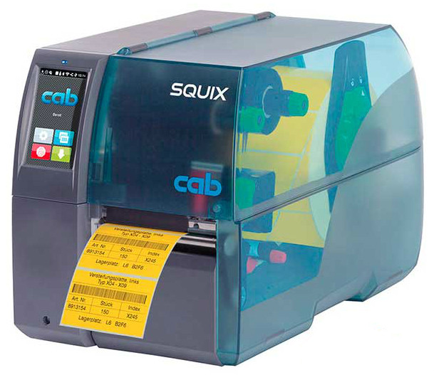 Cab SQUIX 4 M 600dpi Thermal Transfer Heat Shrink Tubing and Label Printer