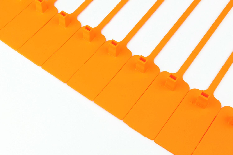 Tracewaste Pull Through Seals - Orange 500 pieces