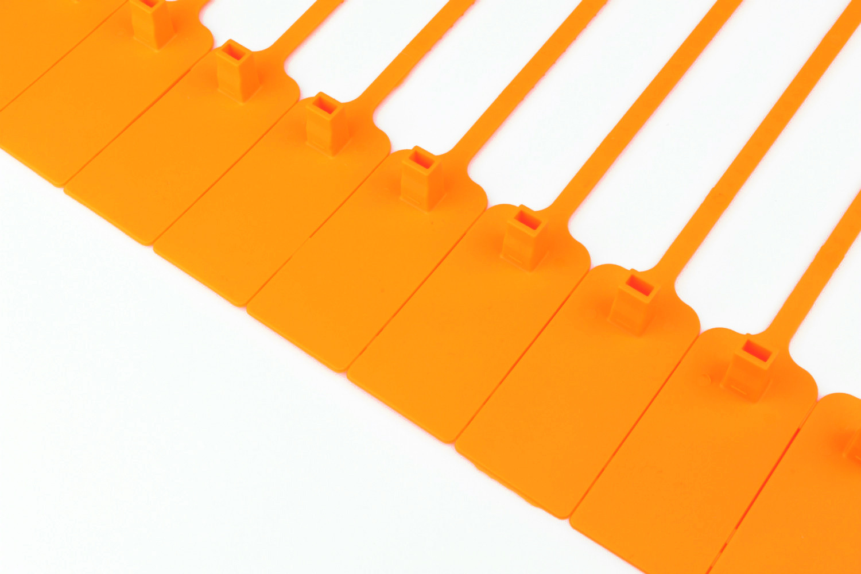 Tracewaste Pull Through Seals - Orange 100 pieces