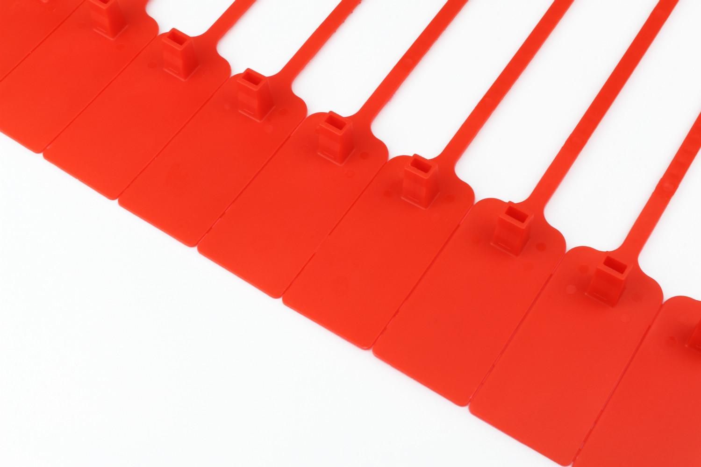 Tracewaste Pull Through Seals - Red 100 pieces