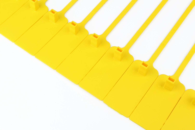 Tracewaste Pull Through Seals - Yellow 100 pieces