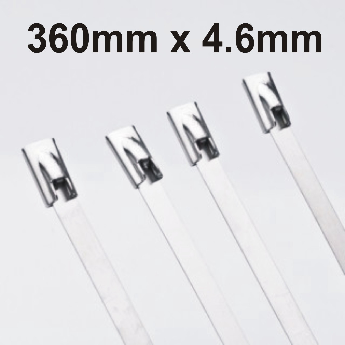 Stainless Steel Cable Ties Uncoated size 360 x 4.6mm