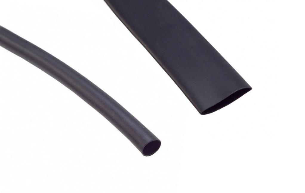 "VERSAFIT - Highly Flame-Retardant Heat Shrink Tubing Size 3/32"" Black (2.4mm down to 1.2mm)"