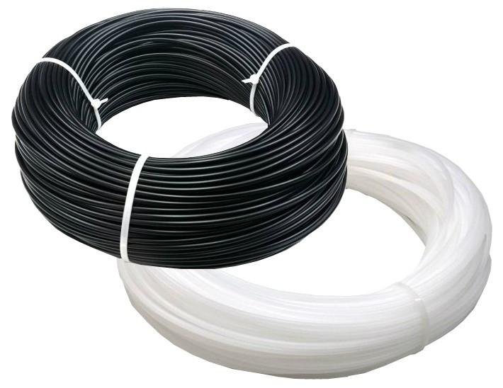 2kg Welding Rod Coils - Rigid PVC, 4mm Round, Black