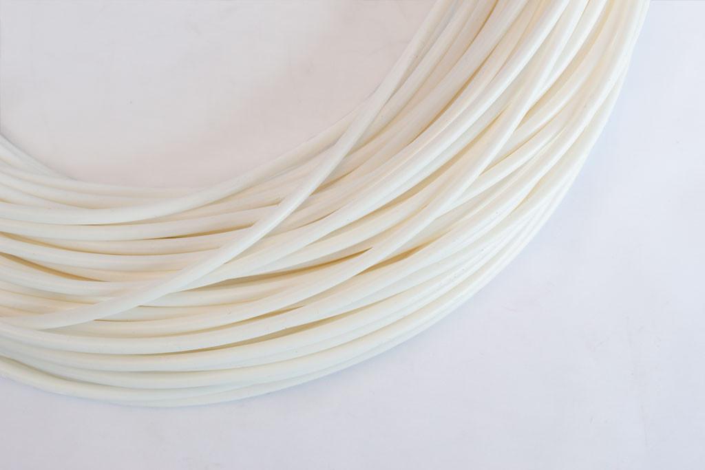 White Silicone Rubber Tubing