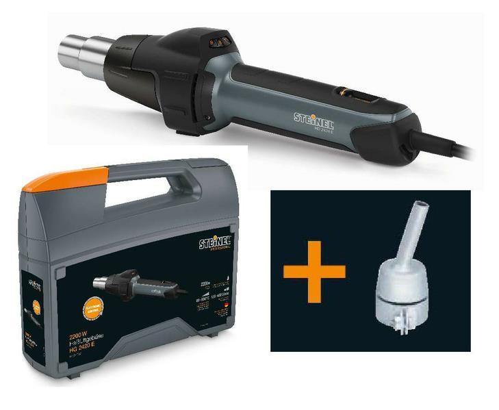 Steinel HG 2420 E Hot Air Gun / Tool 110V & 240V with Case & Nozzle - 012632 / 009809