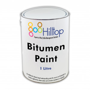 Trade Quality Black Bitumen Paint 1 Litre