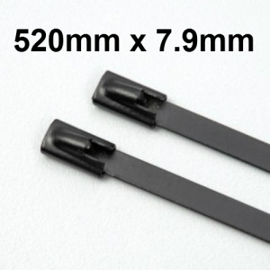 Stainless Steel Cable Ties Coated 520mm x 7.9mm