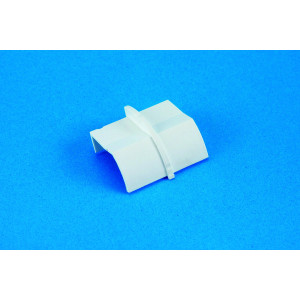 22 x 22mm Clip-Over Plain Coupler White