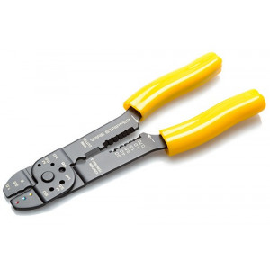 Crimp tool for red, blue and yellow pre-insulated terminals