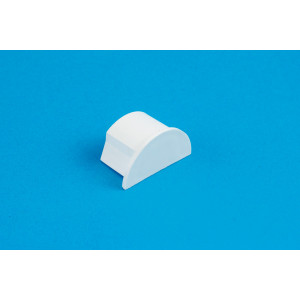16 x 8mm Smooth-fit End Cap White