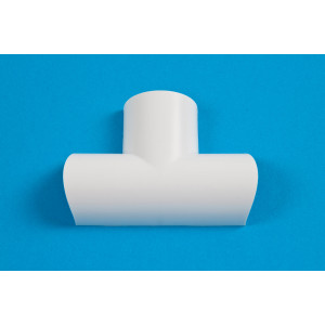 30 x 15mm Clip-Over Equal Tee White