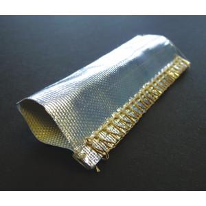 Heat Reflective Woven Glass Fibre Heat Shield Reflectotherm Sleeving 35mm