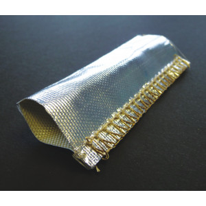 Heat Reflective Woven Glass Fibre Heat Shield Reflectotherm Sleeving 35mm