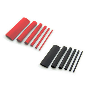 Black / Red Mixed Size Heat Shrink Kits - 1 Meter Lengths
