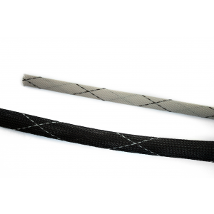 Vidaflex PET FR Polyester Expandable Braid - Black with Grey Tracer/Grey with Black Tracer