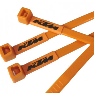 KTM Motorcycle Printed Cable Ties in Orange