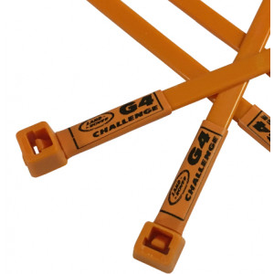 G4 Challenge Land Rover Printed Cable Ties in Orange - Repairs/Modifications