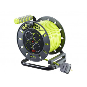Masterplug Pro XT 4 Socket Open Reel Extension Lead 25 Metres