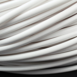 4.0mm PVC Sleeving x 0.5mm Wall Glossy WHITE