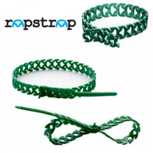 Rapstrap Waste-Saving Releasable Cable Tie - 300mm long x 10mm Wide Green
