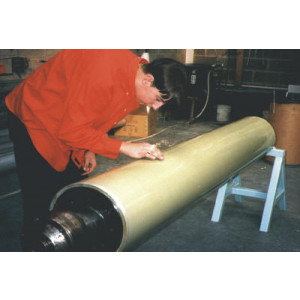 FEP shrink to fit, non-stick roll covers