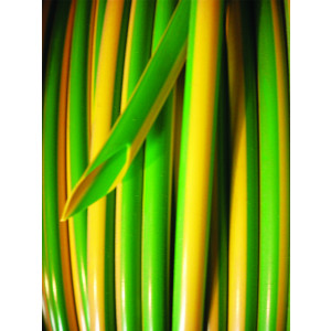 2.0mm Green/Yellow PVC Earth Sleeving 0.5mm Wall