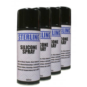 Silicone Lubrication Aerosol Spray Mould Releasing 4 x 400ml Pack