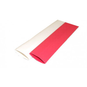"RNF-100 size 1/4"" (6.4/3.2) Premium Heat Shrink White & Red"