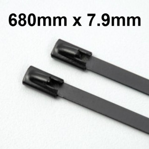 Stainless Steel Cable Ties Coated size 680 x 7.9mm