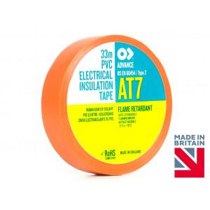 AT7 Fire-Retardant Orange PVC Electrical Insulation Tape - 19mm x 20 Mtr